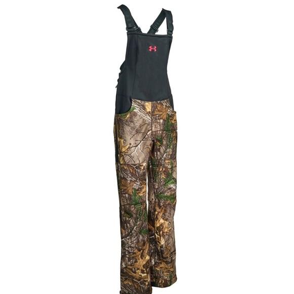 13fc9d40cbe3f Under Armour Pants | Storm 1 Womens Realtree Stealth Bib | Poshmark
